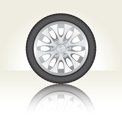 Isolated car tyre vector