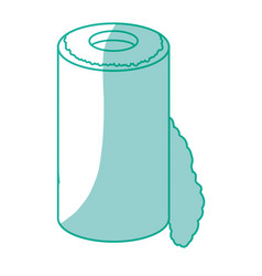 isolated paper towel roll vector image