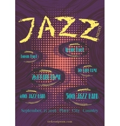 jazz rock or blues music poster template vector image