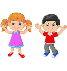 Little kid waving hand isolated on white backgroun vector image vector image