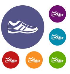 men sneakers icons set vector image