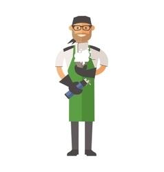 Molecular kitchen chef vector
