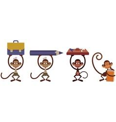 Monkey set vector image vector image