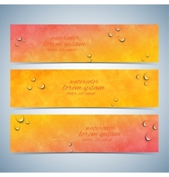 Set of watercolor horizontal backgrounds vector image