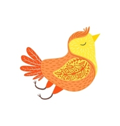 Singing Bird Relaxed Cartoon Wild Animal With vector image