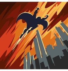 Super hero flying in the sky vector image
