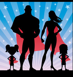 superhero family girls vector image vector image