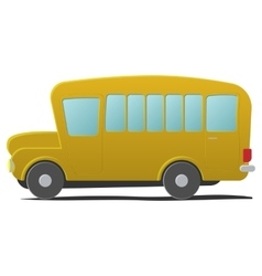 Yellow school bus cartoon vector