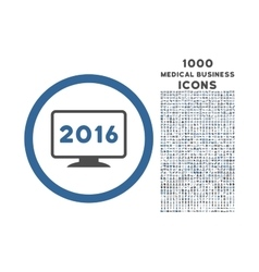 2016 display rounded icon with 1000 bonus icons vector