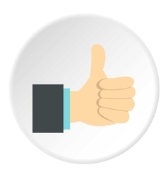 Gesture approval icon flat style vector