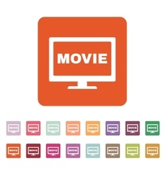 The movie icon television and tv cinema film vector