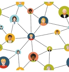 People avatars in social network on white vector