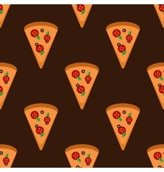 Bright pizza slices seamless pattern vector