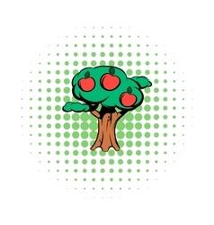 Apple tree comics icon vector image