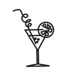Minimalist black cocktail image vector