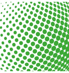 Green color halftone sphere abstract design vector