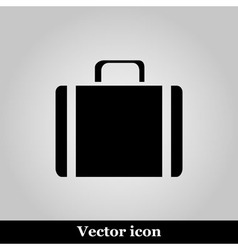 Icons suitcase on grey background vector image