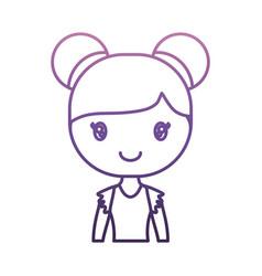 ballerina girl icon vector image vector image