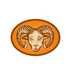 Bighorn sheep or ram vector image