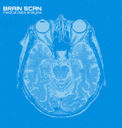 Blue abstract brain tomography vector