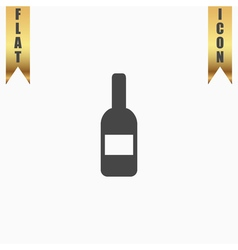 bottle with label vector image vector image
