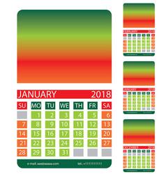 calendar griddecember january february vector image vector image