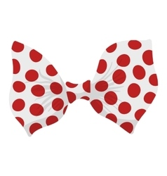 Cartoon bow red sign vector image vector image
