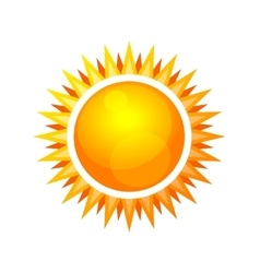 Cartoon Style Glossy Sun Icon vector image vector image