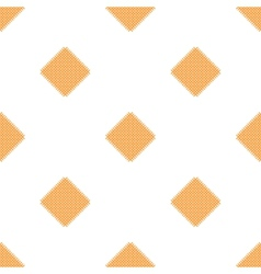 Checkered tablecloths pattern - endless - yellow vector image vector image