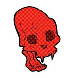 Comic cartoon spooky vampire skull vector
