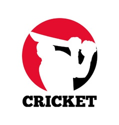 Cricket icon vector