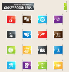 Cruise bookmark icons vector