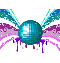 Disco wave background vector