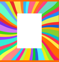 Festive poster colorful rays vector