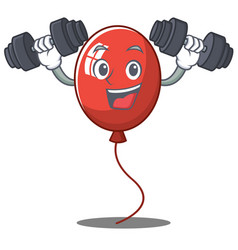 Fitness balloon character cartoon style vector