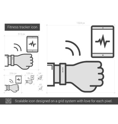Fitness tracker line icon vector