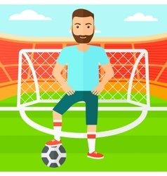 Football player with ball vector image vector image