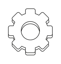 Gear engineer work cooperation thin line vector