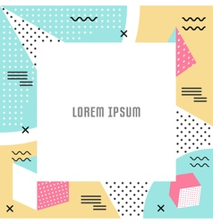 Geometric pattern and background vector