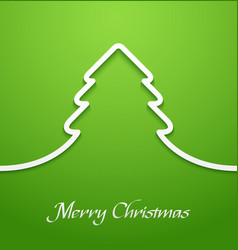 Green abstract christmas tree applique vector image