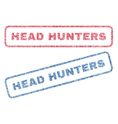 Head hunters textile stamps vector