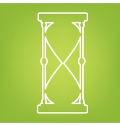 Hourglass line icon vector image vector image