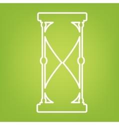 Hourglass line icon vector