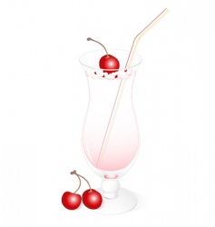 milk cocktail vector image