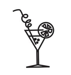 Minimalist black cocktail image vector