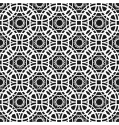 Monochrome seamless pattern with geometric vector image vector image