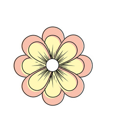 natural flower plant with petals vector image vector image