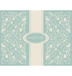 Ornate floral backgroung vector image vector image