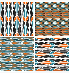seamless patterns Peafowl vector image vector image