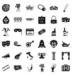 Setting icons set simple style vector